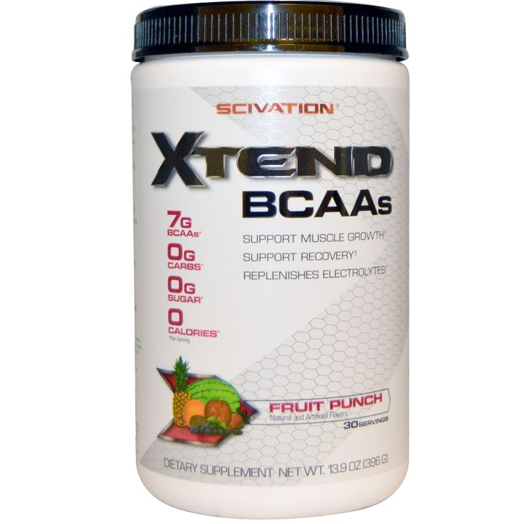 Scivation Xtend 420g (30 Servings) Fruit Punch  Xtend is the ultimate, sugar-free, BCAA-containing drink mix to be consumed during exercise (intra-workout).  Whether you're a physique athlete, strongman, powerlifter, traditional athlete (e.g., football, basketball, baseball, soccer, etc), endurance competitor, or just looking to significantly change your body composition through resistance training and nutrition, Xtend is ideally formulated to maximize training intensity and support your…