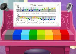 zagraj utwór z kolorowych nut