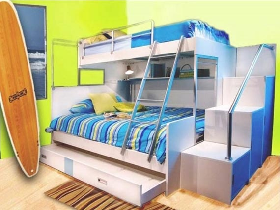 colorful bunk bed for teenager by color and life - Etagenbetten Fr Teenager Jungen