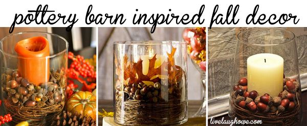 pottery barn inspired fall decorating