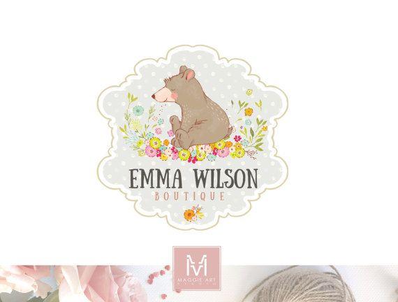 Kids Logo,Bear Logo,Floral Logo, Photography Logo,Artisan Logo, Boutique Logo ,Events Logo, Decor Logo, Stamp Logo, Logo,Watermark
