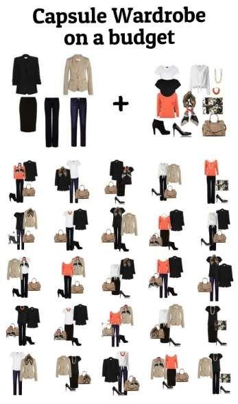 Capsule Wardrobe on a budget #capsule wardrobe