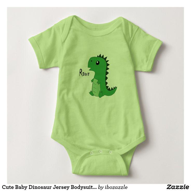 Cute Baby Dinosaur Jersey Bodysuits Kids T-Shirt