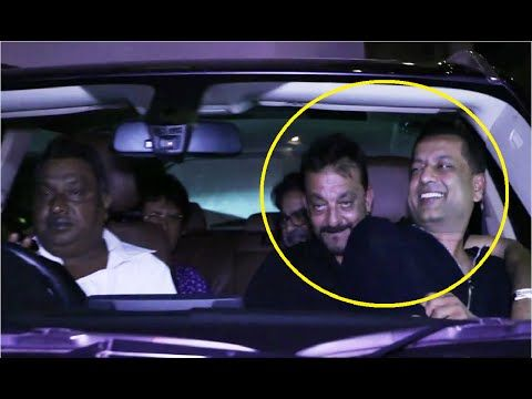 WATCH Sanjay Dutt in a FUNNY mood, makes a friend sit in his lap.  See the full video at : https://youtu.be/3o4mrk0RLKc #sanjaydutt