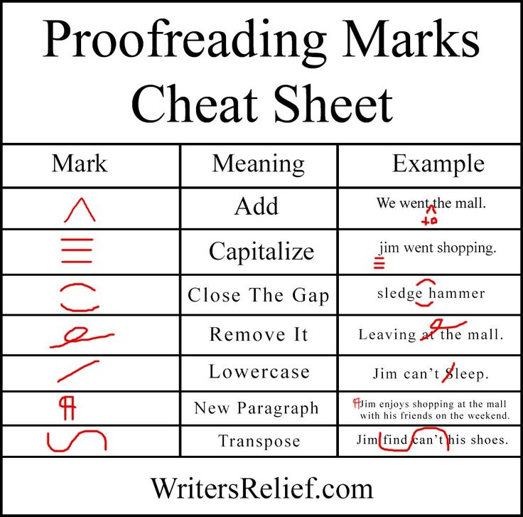 English In Italian: Proofreading 101: The Marks Of A Master Proofer