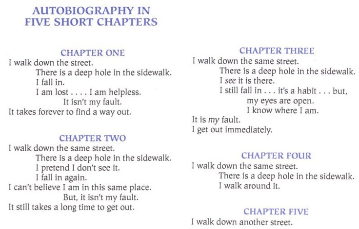 Autobiography in 5 Short Chapters by Portia Nelson