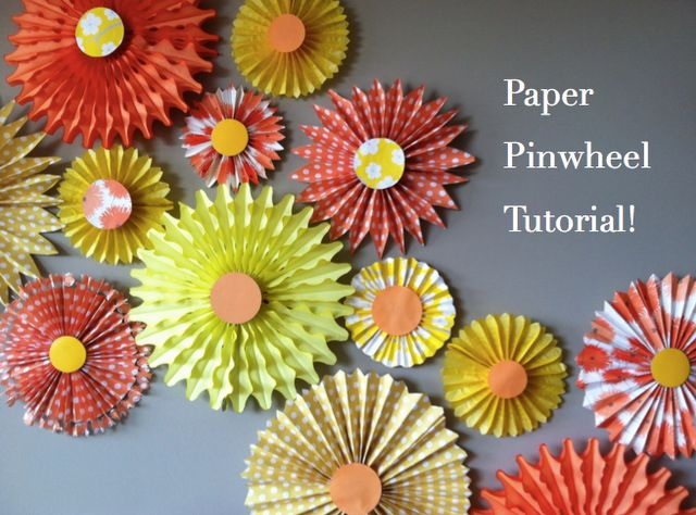 paper pinwheel tutorial via Land of Nod