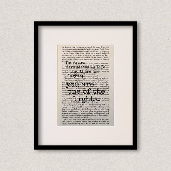 Dracula  Book Quote Print  Birthday Gift  Gift by NoodleBookArt