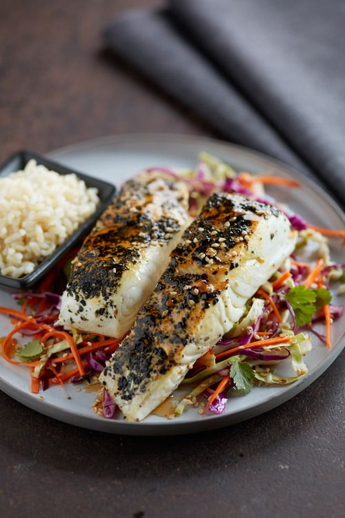 ... romantic meals cole slaw halibut fish dishes forward asian inspired