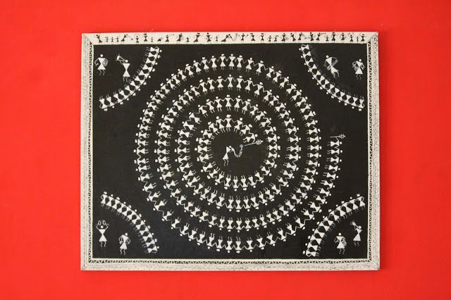 My Warli Painting :D Simple and sweet......