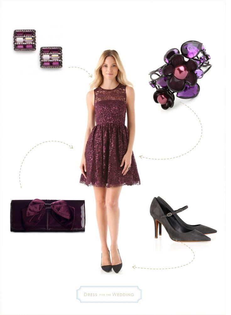 Purple Dress & Accessory Ideas for a Wedding