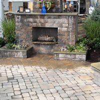 building a outdoor fireplace with pavers - Google Search