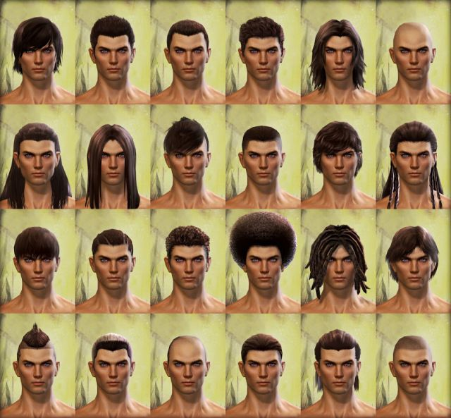 Guild Wars 2 Human Male Hair How To Draw Hair Character Creation Mens Hairstyles