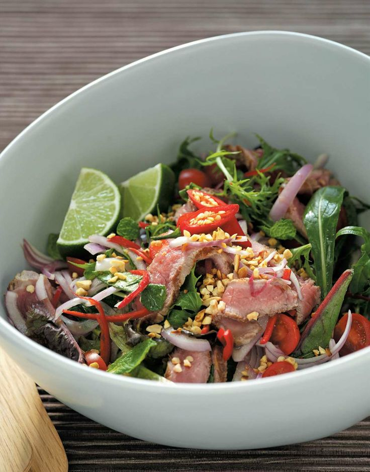 Hot Thai beef salad by Margaret Fulton from Margaret Fulton's Favourites | Cooked