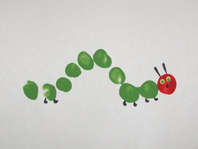 Very Hungry Caterpillar finger print picture!