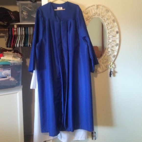 Josten's graduation Cap and gown. Jostens Blue cap and gown. Josten's Dresses