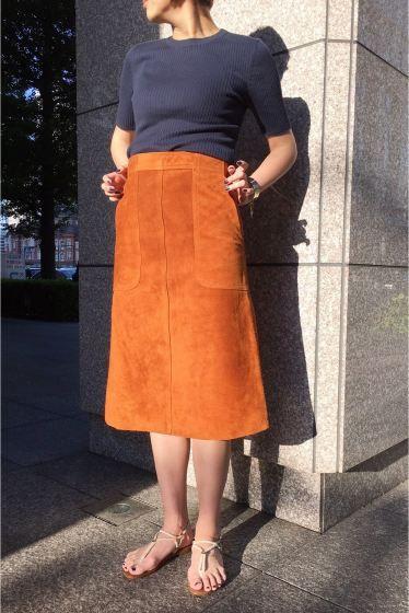 Deuxieme Classe(ドゥーズィエム クラス) MADISON BLUE スエードスカート◆   スタイルクルーズ