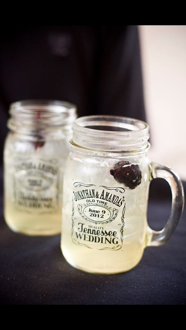 Country wedding / jack Daniels mason jars