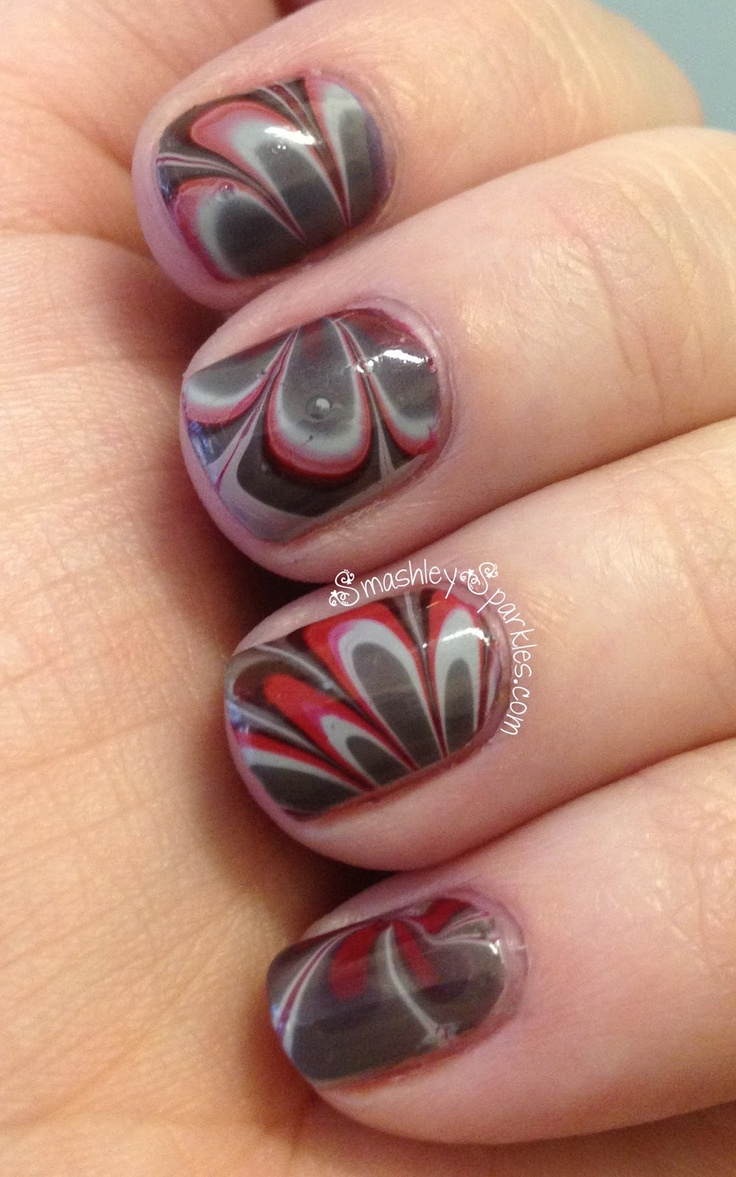 ohio state water marble, so gorgeous!