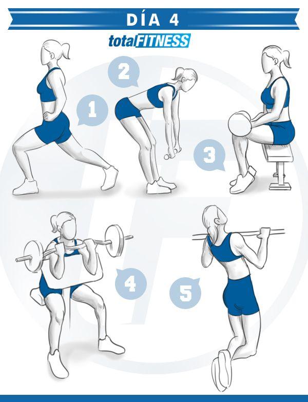 Plan de entrenamiento de 5 días para chicas que quieran estar en forma