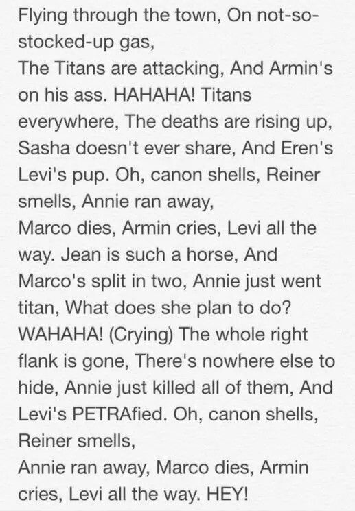 Another Attack on Titan Christmas song. *sobbing* Levi's PETRAfied