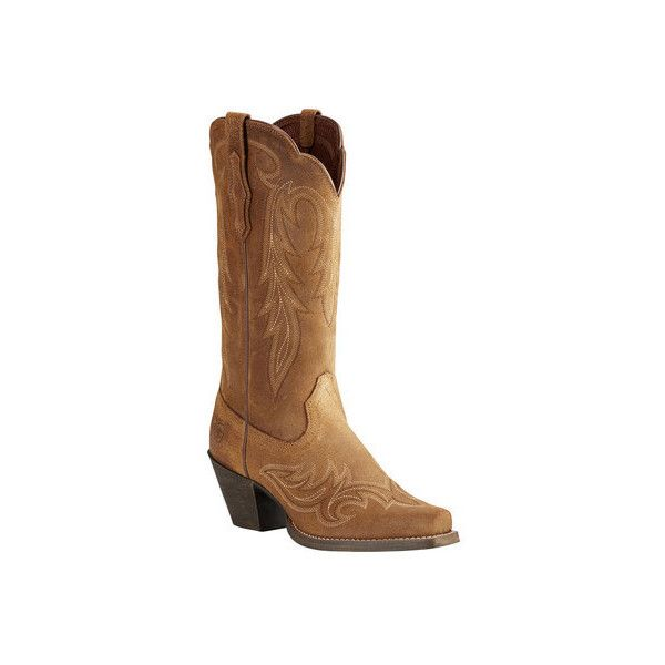 Women's Ariat Round Up Renegade Cowgirl Boot ($150) ❤ liked on Polyvore featuring shoes, boots, casual, riding boots, knee high western boots, western cowboy boots, knee high cowgirl boots, leather riding boots and tan leather knee high boots