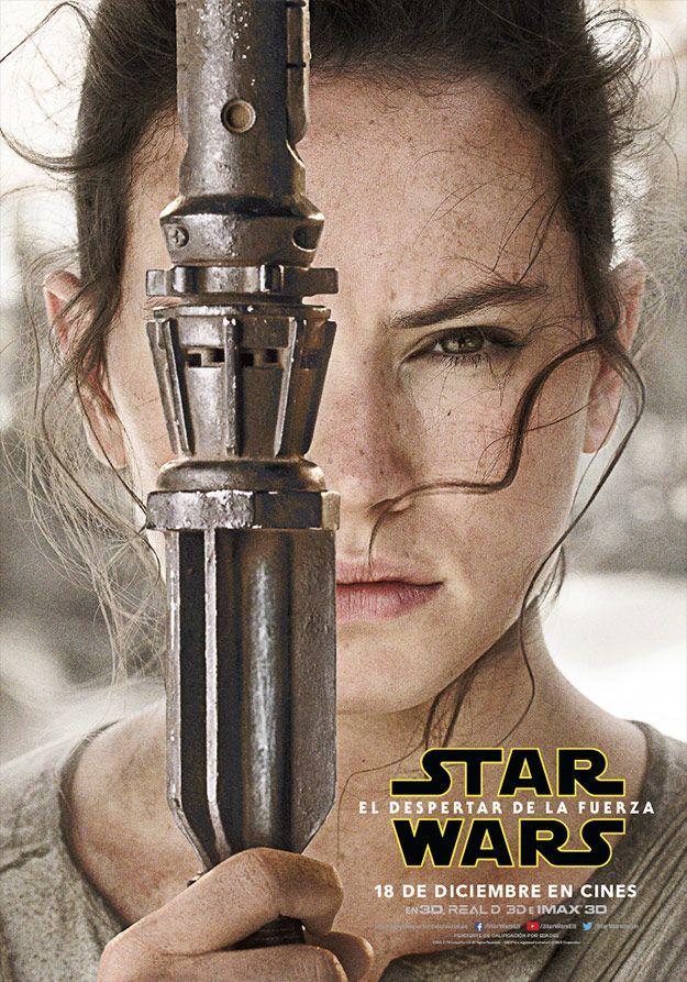 Cartel de Rey (Daisy Ridley) en Star Wars: El Despertar de la Fuerza