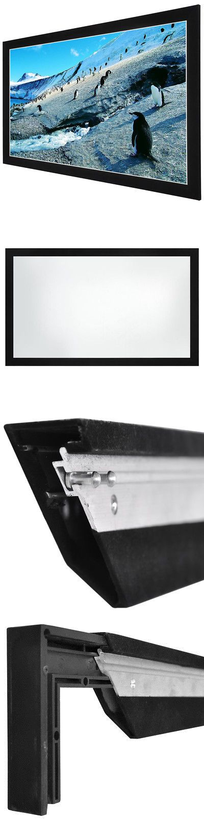 Projection Screens and Material: 92 Deluxe 16:9 Fixed Frame Projector Screen 80 X45 Pvc Projection Home Theater -> BUY IT NOW ONLY: $98.9 on eBay!