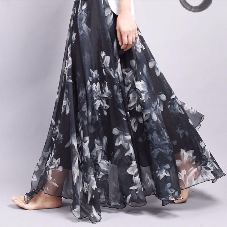 Make your own ensemble now with this lovely skirt. This skirt is elegant and comfortable to wear. Features pleated loose design with lining, ankle length, elastic waistband, and overall floral print.