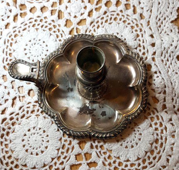 CANDELA D'ARGENTO TITOLARE Vintage Candeliere d'argento