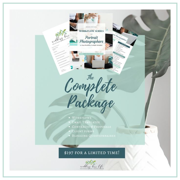 The Complete Package If you are interested in everything Wedding Boss Life offers for templates including the multiple forms and resources listed above, this is the way to go! By purchasing this bundle of all 5 sets of my workflows, forms, contracts, e-mails, questionnaires, and resources, plus per usual Lauren fashion I throw in a whole bunch of extra FREE goodies like my pricing information, packages, etc.
