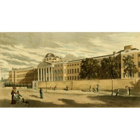 Repository of Arts 1817 New Bethlem Hospital St Georges Fields Canvas Art - Unknown (18 x 24)