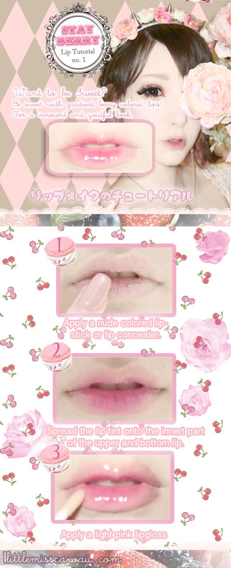 Little Miss Cawaii: STAY BERRY: Gradient Lip Tutorial