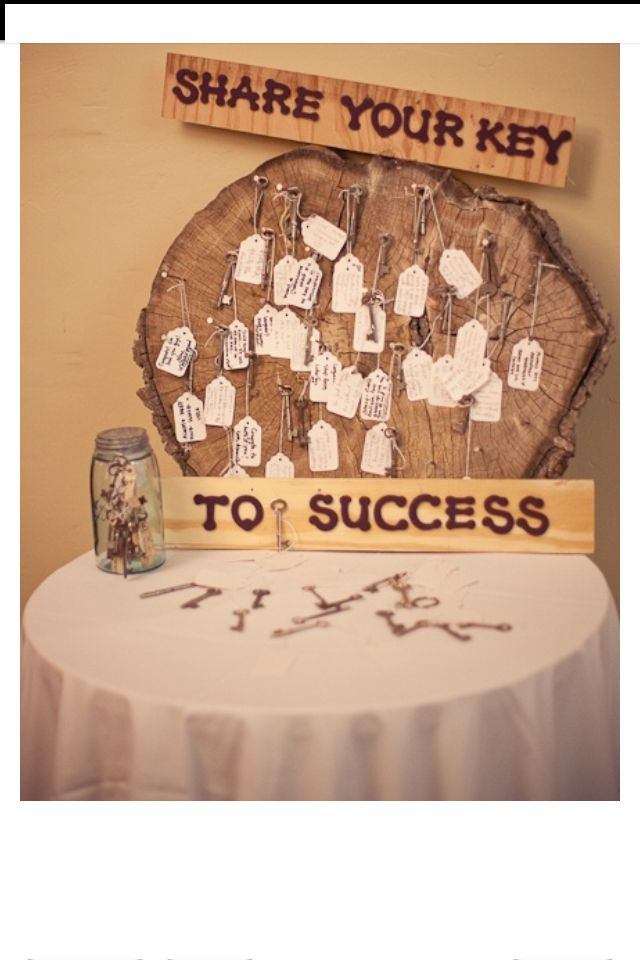 A cute way of asking guests for their newlywed tips.