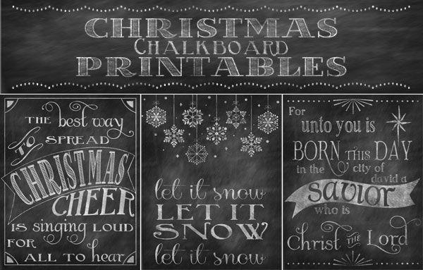 Chalkboard Christmas Printables