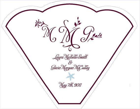 SET OF 25  Purple Floral Vines Wedding Fan by WoodlarkDesigns, $25.00