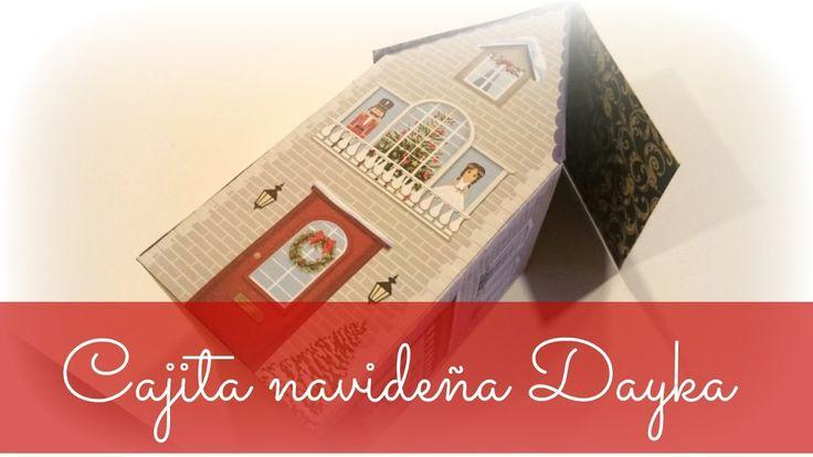 """""""Casita de Navidad de papel scrap para decorar""""  #manualidades #Navidad #scrap #Dayka #papelNavidad #TiendaJuguetes"""