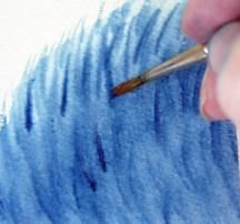 How to create fur effect in watercolour painting