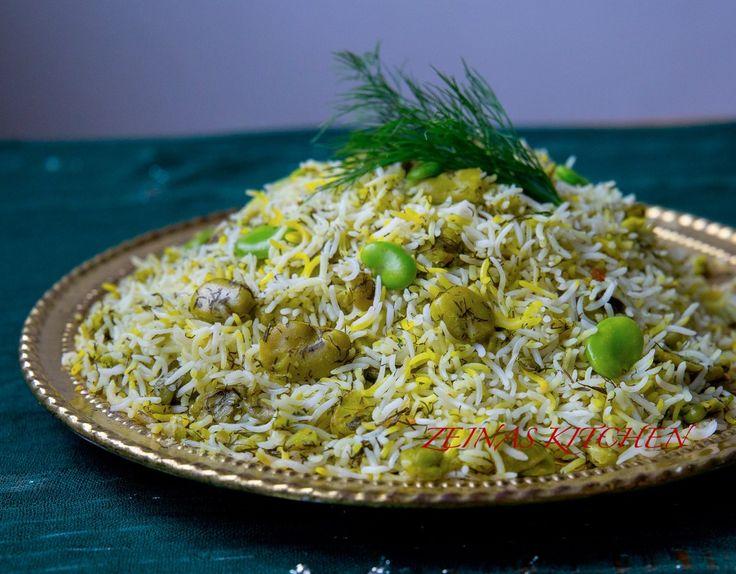 Baghali polo- Persiskt ris med dill och bönor