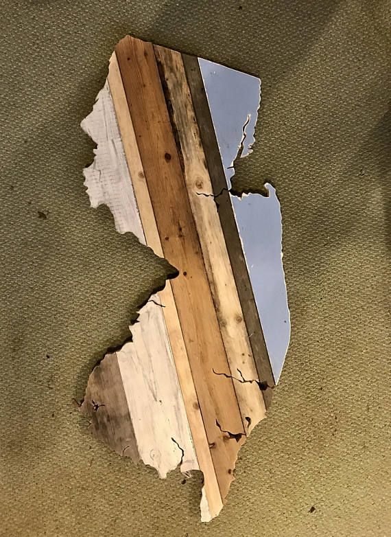 Reclaimed Wood State Outline Wall Art