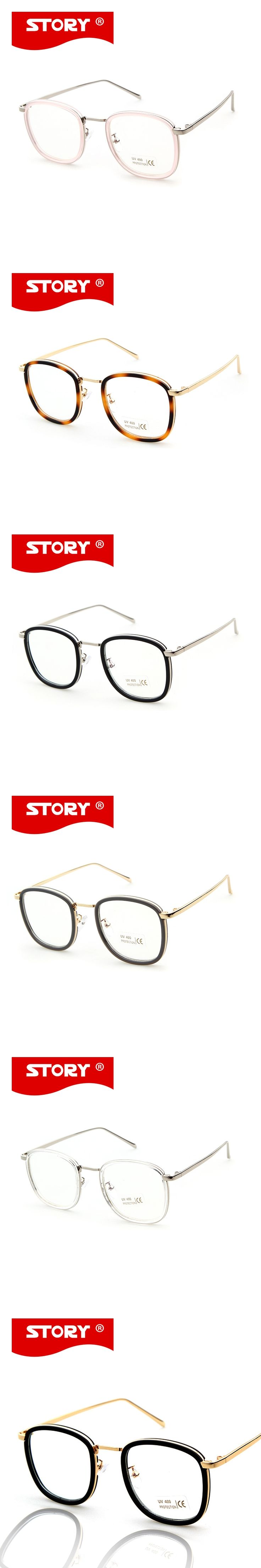 STORY Optical Frame Vintage Retro Glasses Frame Women Mirror Lens Original Designer  Sunglasses Feminino lentes opticos mujer