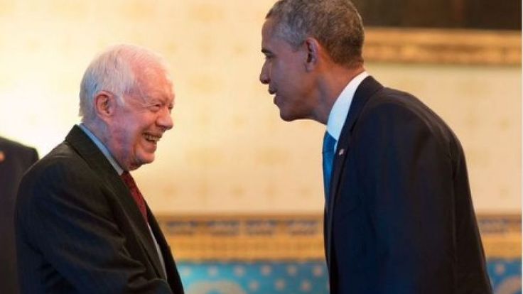 Obama Tweets Photo of Himself with Jimmy Carter for Carter's Birthday