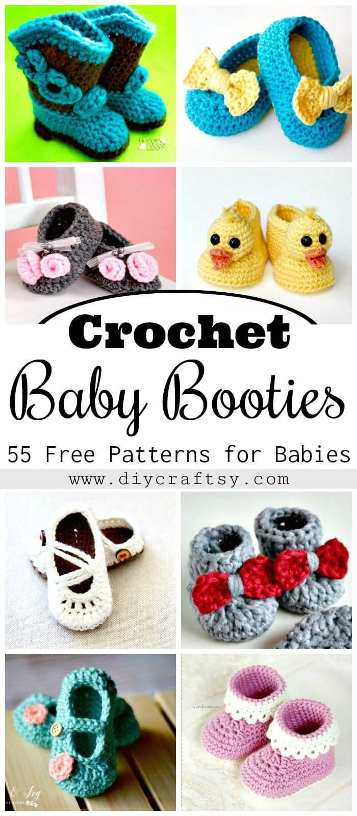 Crochet Baby Booties - Free Crochet Patterns for Babies