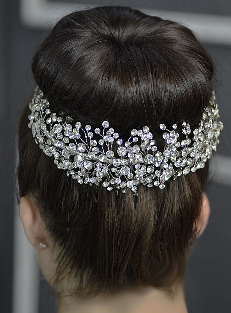 Gorgeous Elena Designs E765 Rhinestone Sprig Wedding Headpiece - Affordable Elegance Bridal -