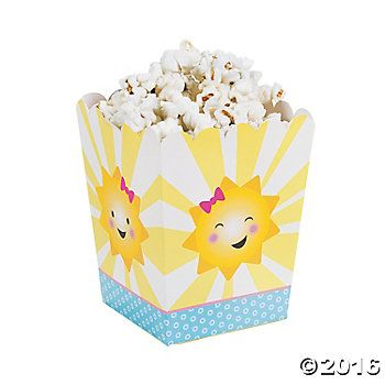My Sunshine Popcorn Boxes - 24 Pack Party Supplies Canada - Open A Party