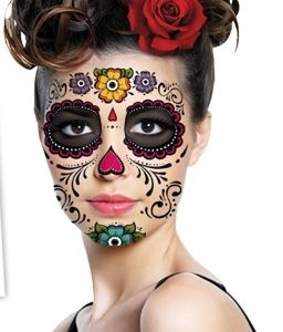 Day of the Dead Sugar Skull Full Face