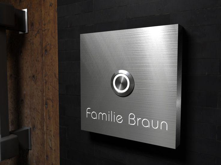 die besten 25 klingeltaster ideen auf pinterest klingeltaster edelstahl klingelschild und. Black Bedroom Furniture Sets. Home Design Ideas