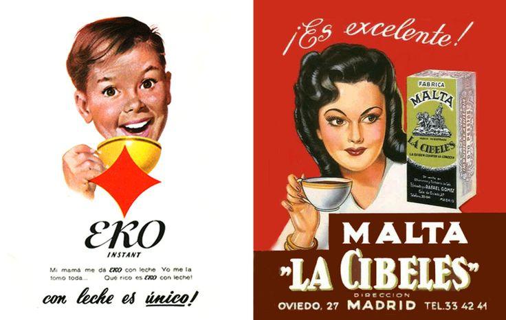 """Publicitat seglo XX, café instantani """"EKO"""" i """"LA CIBELES"""""""