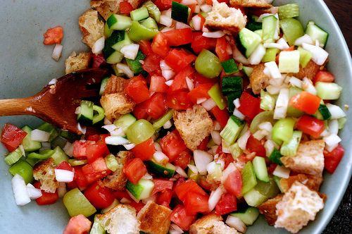 Diced Tomato and Cucumber Gazpacho Salad by smittenkitchen, via Flickr