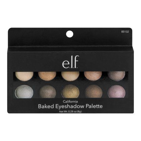 e.l.f. California Baked Eyeshadow Palette, 0.28 oz, Multicolor